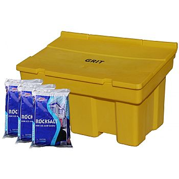 Stackable 350 Litre Grit Bin & Rock Salt Bundle