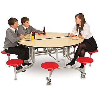 8 Seater Round Mobile Dining Unit
