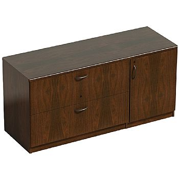 Corniche  Two Drawer Side Filer With Side Cupboard