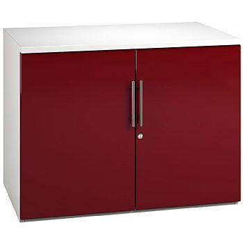 NEXT DAY Desk High Cupboards Burgundy