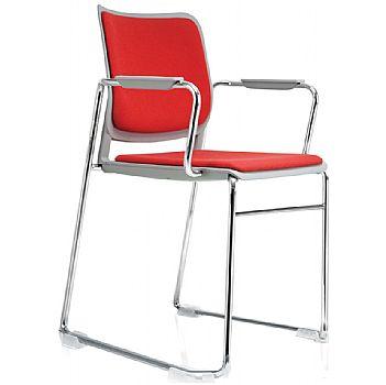 Brad Upholstered Skid Base Visitor Chair