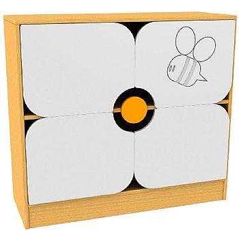 Honey Bee Flower Cupboard