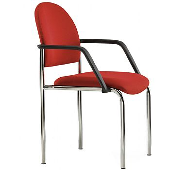 Pledge Arena Rounded Back 4 Leg Chair Without Arms
