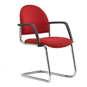Pledge Arena Stackable Cantilever Chair With Arms