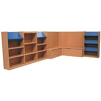 Nexus Large Library Corner Combination Bookcases
