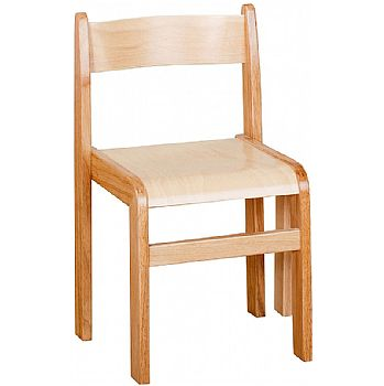 Natural Wooden Stacking Chairs