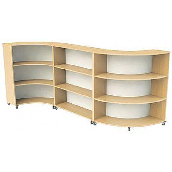 Nexus Curve Straight Bookcases