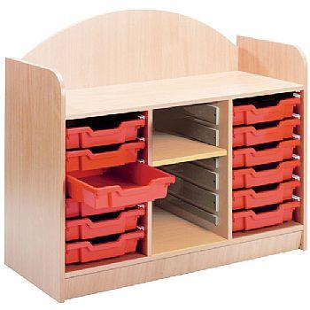 Stretton 12 Shallow Tray Storage Unit With Adjusta