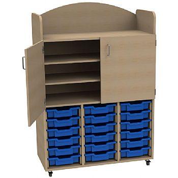 Stretton 18 Shallow Tray Triple Bay Storage Unit &