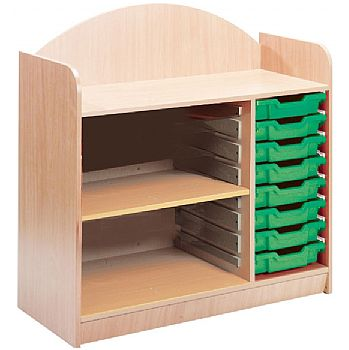Stretton 8 Tray Storage Unit With Adjustable Shelf