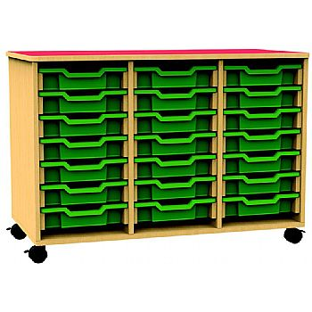 Funky Triple Bay Mobile Shallow Tray Unit