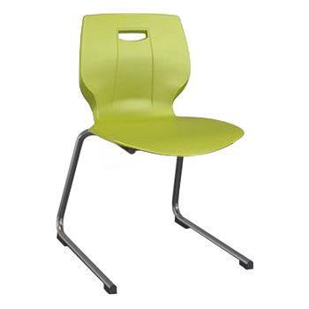 Scholar Reverse Cantilever Chair - Lime Green