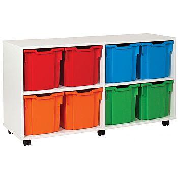 8 Tray Jumbo White Storage Unit