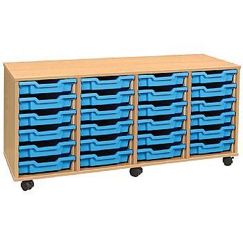 4 Store 24 Tray Shallow Storage Unit