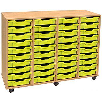 4 Store 40 Tray Shallow Storage Unit