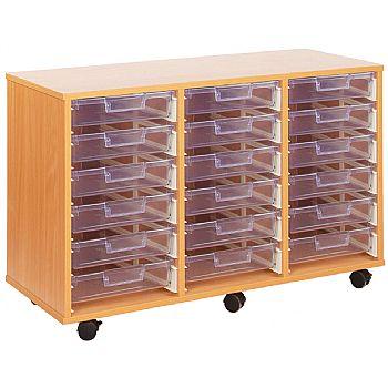 Crystal Clear 18 Shallow Tray Storage Unit
