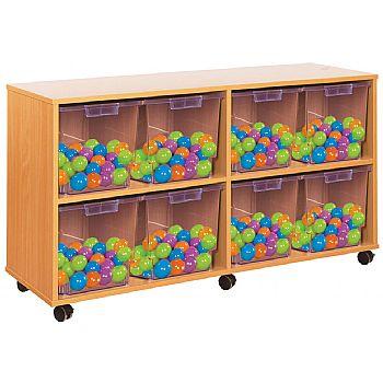 Crystal Clear 8 Quad Tray Storage Unit