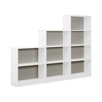 Next Day Vogue White Bookcases £85 -
