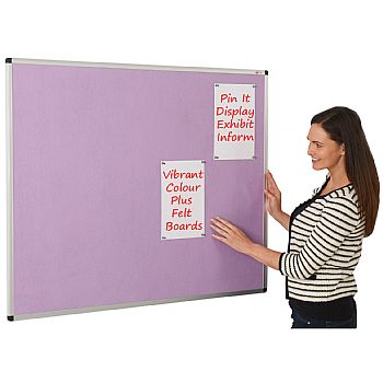 Colour Plus Aluminium Framed Felt Noticeboards