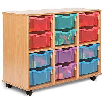Storage Allsorts 12 Deep Jelly Tray Unit