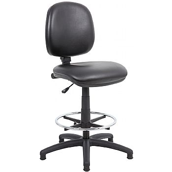 Comfort Leather Faced Draughtsman Chair £87 -