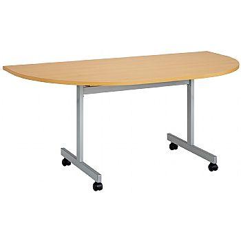 Commerce II Semi Circular Flip Top Tables