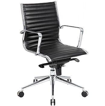 Abbey Medium Back Designer Leather Office Chair £159 -
