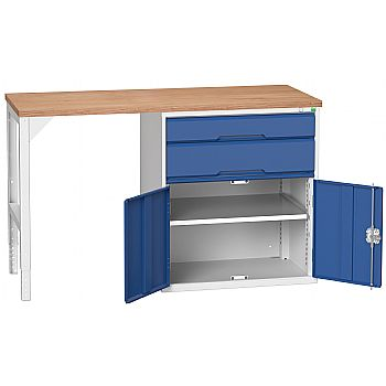 Bott Verso Pedestal Benches - 800mm Pedestal With Cupboard & 2 Drawers £554 -