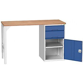 Bott Verso Pedestal Benches - 525mm Pedestal With Cupboard & 2 Drawers £495 -