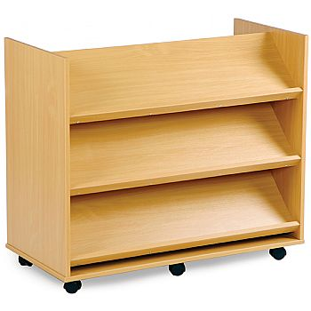 Library Unit With 3 Angled Shelves On Each Side £147 -