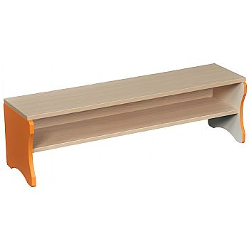 Cloakroom Bench with Orange Edging £77 -