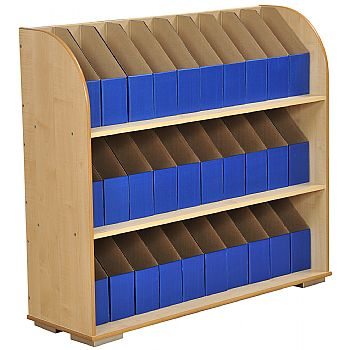 3 Shelf A4 Maple Bookcase £232 -