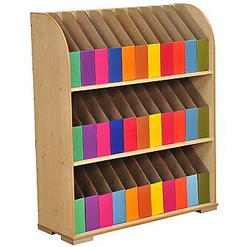 3 Shelf Foolscap Maple Bookcase £264 -