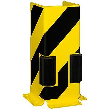 Black Bull Steel Pallet Racking Protectors With Guide Rollers - U Profile £129 -