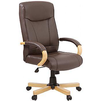 Farnham Brown Leather Office Chair £123 -