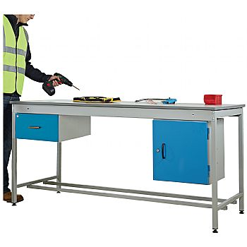 Taurus Utility Workbench With Fixed Cupboard And Drawer £727 -