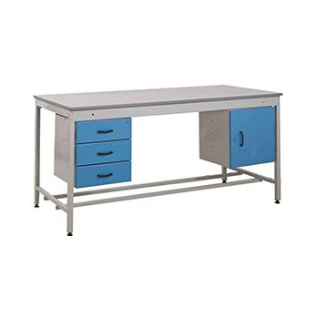Taurus Utility Workbench With Fixed Cupboard And Three Drawer Pedestal £878 -