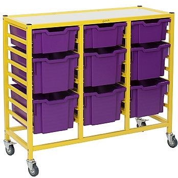 Gratnells Dynamis Collection Mixed Tray 3 Column Storage Trolley £158 -