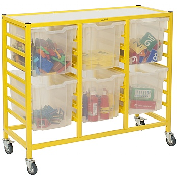 Gratnells Dynamis Collection Jumbo Tray 3 Column Storage Trolley £142 -