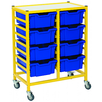 Gratnells Dynamis Collection Deep Tray 2 Column Storage Trolley £138 -