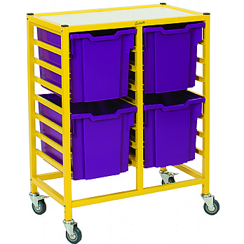 Gratnells Dynamis Collection Jumbo Tray 2 Column Storage Trolley £139 -