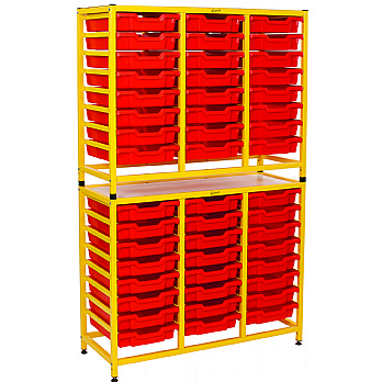 Gratnells Dynamis Collection Tall Double Unit With Shallow Trays £383 -