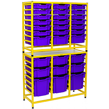 Gratnells Dynamis Collection Tall Double Unit With Variety Trays £360 -