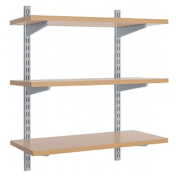 Office Wall Mounted Shelving Kit in Silver £25 -