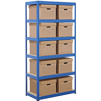 Document Storage Shelving With Standard Boxes £82 -