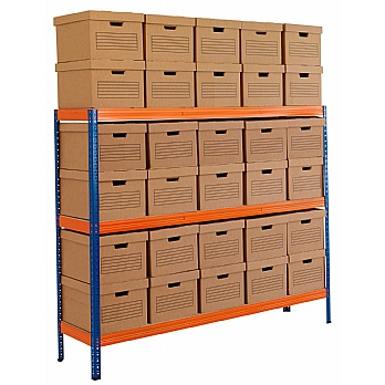 Archive Storage Racking With Standard Boxes £99 -