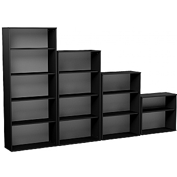 NEXT DAY Eclipse Essential Black Office Bookcases £91 -