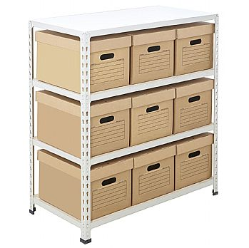 BiG340 Compact Document Storage Shelving With Value Boxes £85 -