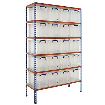BiG340 Shelving Bay With 20 x 24 Litre Really Useful Boxes £329 -
