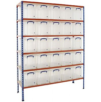 BiG340 Shelving Bay With 25 x 24 litre Really Useful Boxes £399 -